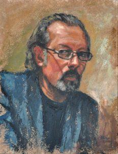 Giorgio, Acrylic on handmade paper, cm.46×36, 2009 ■
