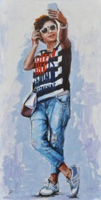 How do you look?, Acrilico su tela, cm.120x60, 2015