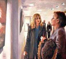 Incontri in luoghi interiori, Acrylic on canvas, cm.80x90, 2011