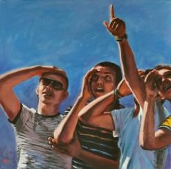 LA DOMANDA, Acrylic on canvas, cm.80x80, 2011