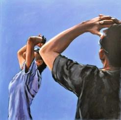 Luoghi sospesi, Acrylic on canvas, cm.70x70, 2012