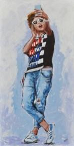 MAGIC MIRROR, Acrylic on canvas, cm.120x60, 2015