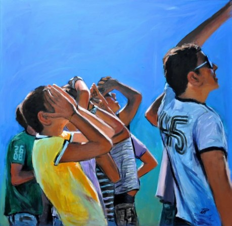 METE-ORE, Acrylic on canvas, cm.80x80, 2012