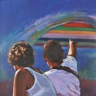 ORIZZONTI SURRAZIONALI, Acrylic on canvas, cm.100x100, 2015 ■