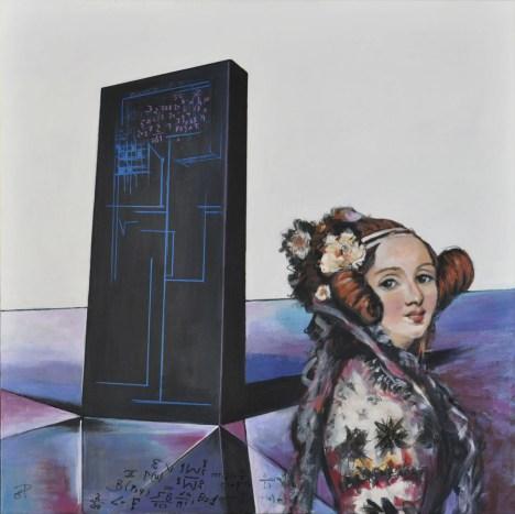 Ritorno al futuro - Ada Lovelace, Acrylic on canvas, cm.80x80, 2016