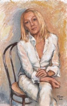 Roberta, Acrylic on handmade paper, cm.51×33, 2010 ■