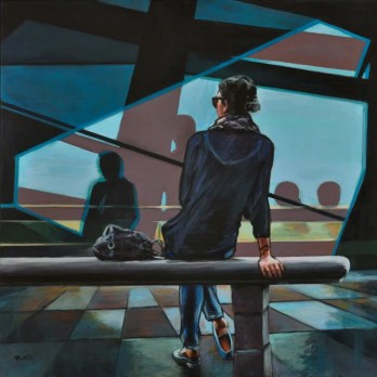 RAGAZZA IN ATTESA, Acrylic on canvas, cm.70x70, 2017