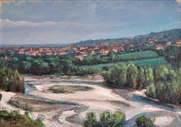 SAN POLO SULLO SFONDO DELL'ENZA, on handmade paper, cm.37×52, 2008