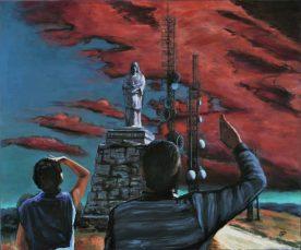 SENZA TITOLO - SUL MONTE EVANGELO, Acrilico su tela, cm.100x120, 2013