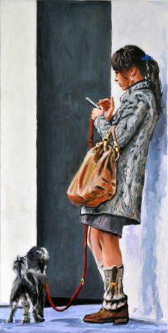 SOSPESE, Acrilico su tela, cm.120x60, 2014