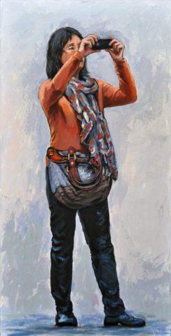 SOUVENIR, Acrilico su tela, cm.120x60, 2014