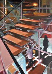 Spazio Gerra, Acrylic on canvas, cm.100x70, 2011