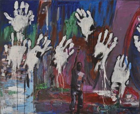 APPARTENENZA, Acrylic on canvas, cm.100x120, 2016