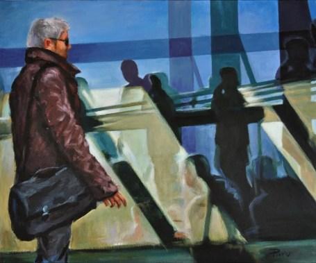 ARRIVI E PARTENZE, Acrylic on canvas, cm.50x60, 2011