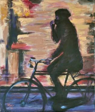 Controluce nel freddo della sera, Acrylic on canvas, cm.60x50, 2010 ■