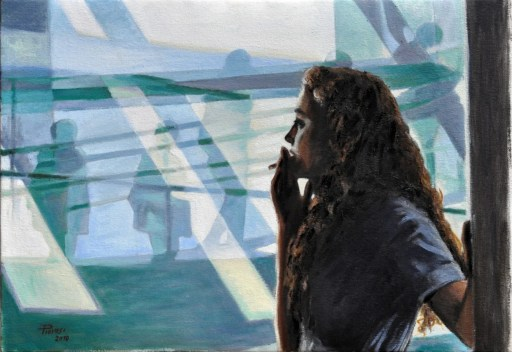 IN ATTESA, Oil on canvas, cm.70x100, 2010 ■