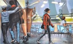 LA STRADA, Acrylic on canvas, cm.80x130, 2010