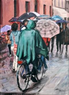 MANTELLO VERDE, Acrylic on canvas, cm.70x50, 2010 ■