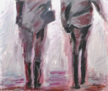 PARLANDO, Acrylic on canvas, cm.50x60, 2010 ■