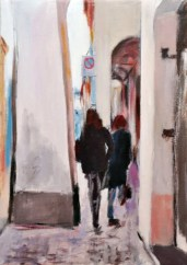 DI PORTICO IN PORTICO, Acrylic on canvas, cm.50x35, 2011