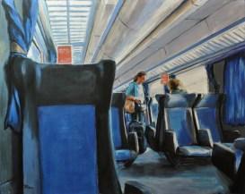IN CARROZZA, Acrylic on canvas, cm.80x100, 2012