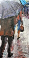 VIA EMILIA, Acrilico su tela, cm.60x30, 2011