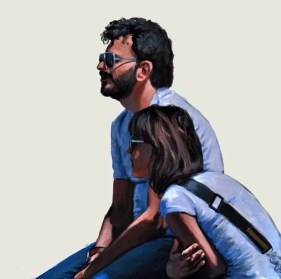VIAGGIAMENTE, Acrylic on canvas, Cm.80x80, 2014