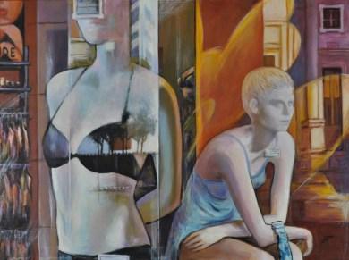 VETRINE, Acrylic on canvas, cm60x80, 2010