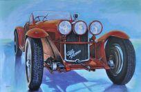 Alfa Romeo 8C 2300 SC - 1932, Acrilico su tela, Cm. 80x120, 2018