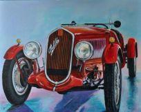 Fiat 508 Balilla Sport - 1934, Acrylic on canvas, Cm. 80x100, 2018