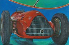 ALFA ROMEO 159 1937, Acrylic on canvas Cm.80x120, 2019
