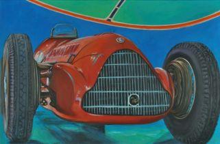 Alfa Romeo 158 1937, Acrylic on canvas Cm.80x120, 2019