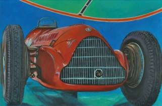 Alfa Romeo 158 1937, Acrilico su tela Cm.80x120, 2019