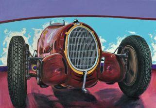 Alfa Romeo 8C-35, Acrylic on canvas cm.70x100, 2019