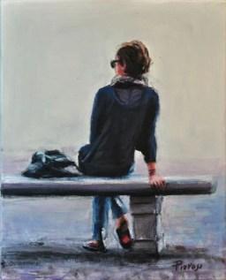 LINEA 12 Bis, Acrylic on canvas, Cm.30x25, 2012