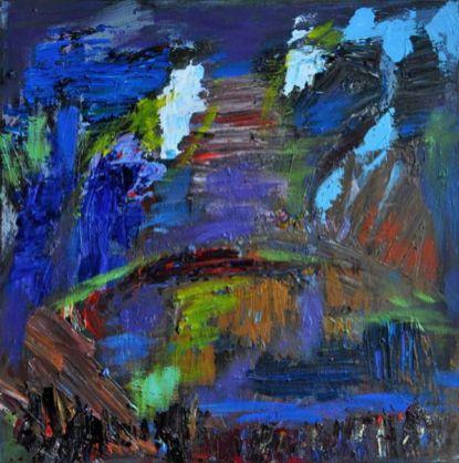 SPRAZZI, Acrylic on canvas, cm.50x50, 2016