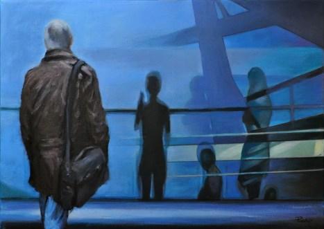 TRANSIT AREA, Acrylic on canvas, cm.50x70, 2012