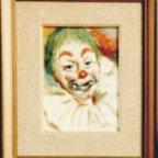 CLOWN 3p, Oil on cardboard, cm 24×18, 1976 ■