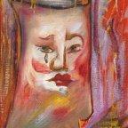 MASCHERA St1, Oil on cardboard, cm 24×18, 1976 ■
