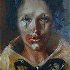 PAURA E TRISTEZZA, Oil on canvas, cm 70×50, 1975 ■