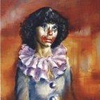 RAGAZZA CLOWN (1), Oil on canvas, cm 50X40, 1975 ■