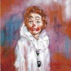 RAGAZZA PIERROT, Oil on canvas, cm 50×40, 1977 ■