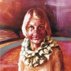 UNA RAGAZZA CLOWN, Oil on canvas, cm.70×50 1976 ■