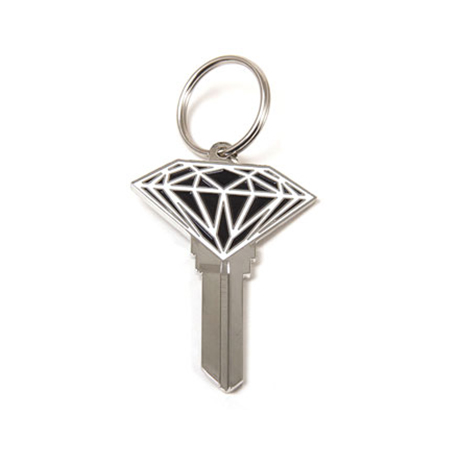 DIAMOND--BRILLIANT-DIAMOND-METAL-KEYblack