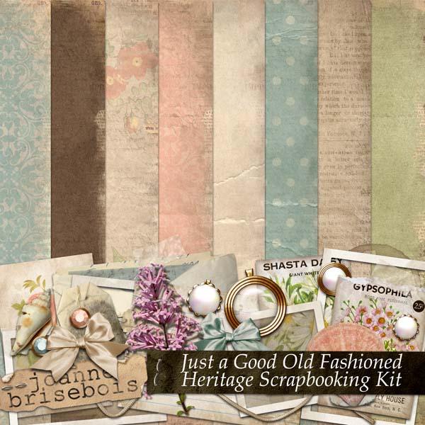 heritage scrapbooking kit by joanne brisebois