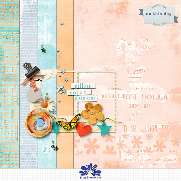 Digital Scrapbook Tutorial: Mixing Digital Scrapbooking Supplies