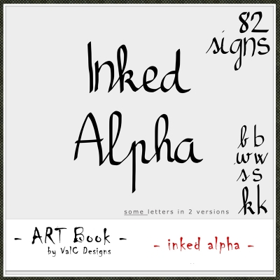 Inked Alpha from Val C Designs
