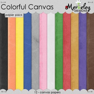 Merkeley Designs - Colorful Canvas Paper Pack
