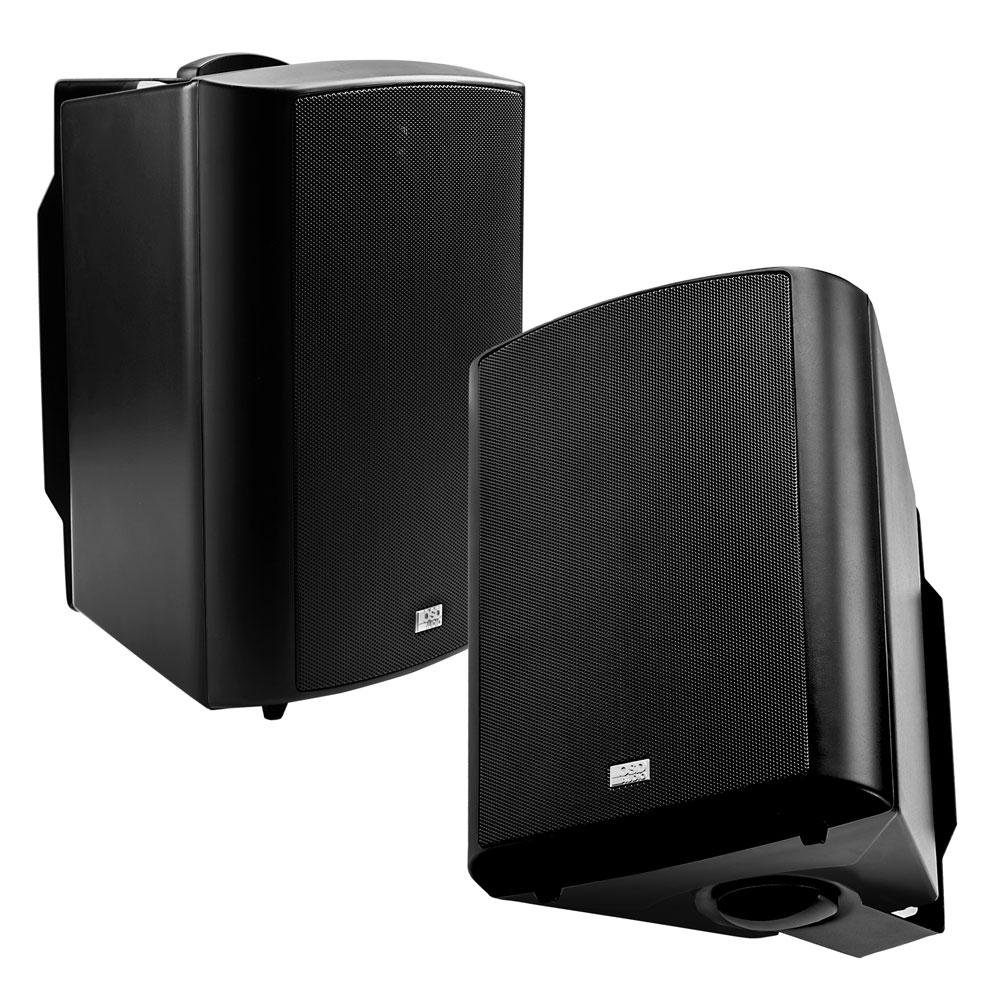 5 25 high performance outdoor patio speaker pair w optional 70v white or black ap520