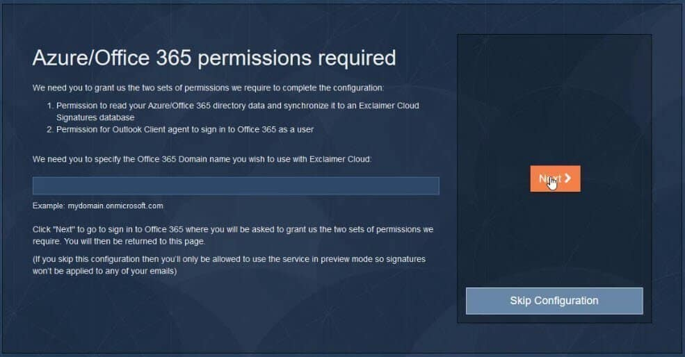 Azure office 365 permissions required